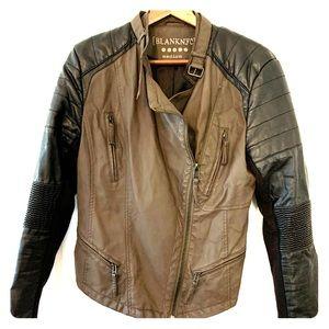 Blank NYC faux leather moto jacket size medium